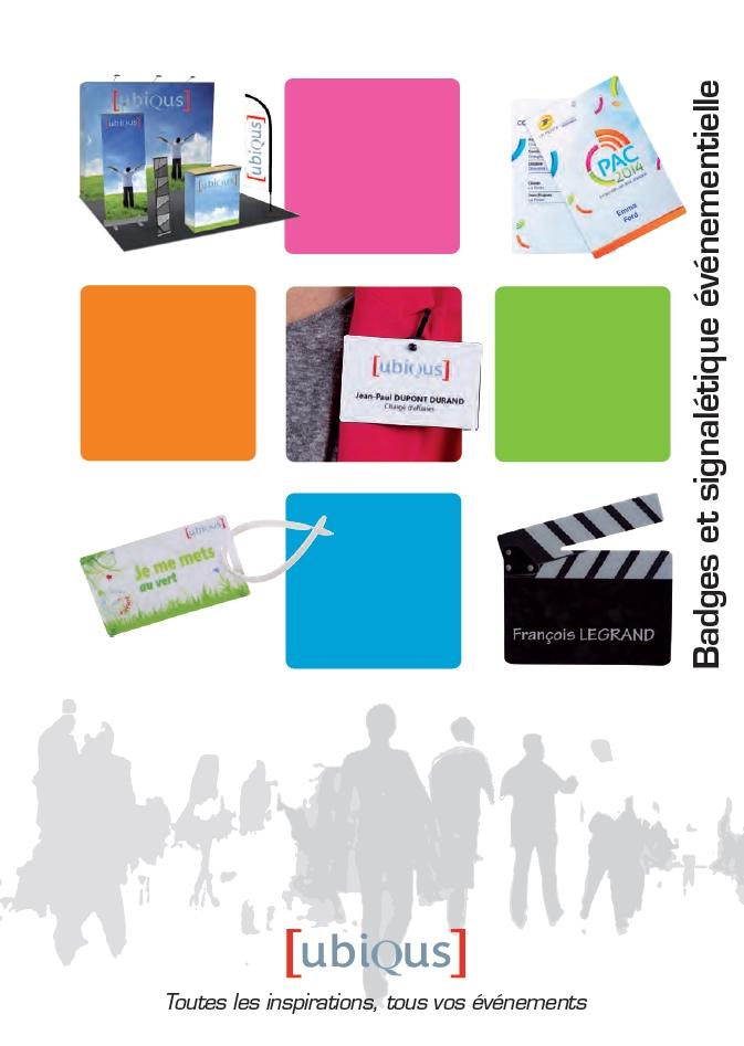 Catalogue «Badges et signalétique événementielle» : découvrez-le vite !