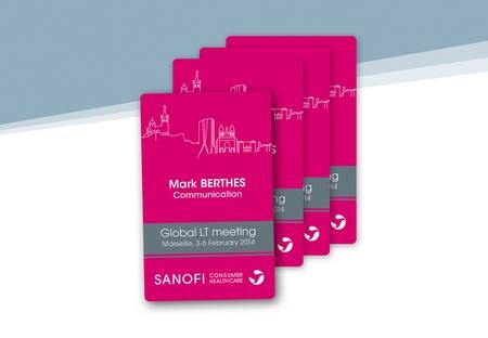 Badge personnalisé format carte de crédit