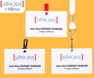 3 modèles de Badges - Ubiqus Badges