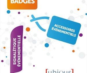 Un nouveau catalogue Badges et signalétique événementielle